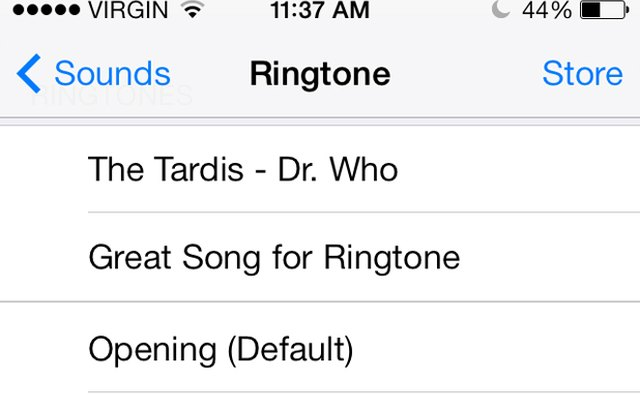 Find your new ringtone on the iPhone.