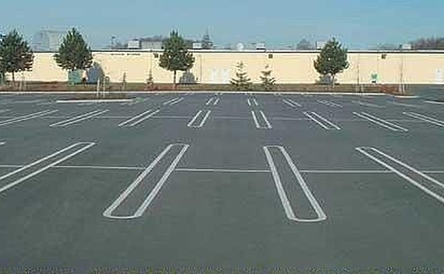 Nice, large, level, parking lot
