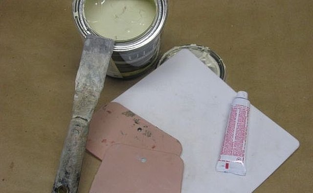 Bondo, ready to mix and apply.