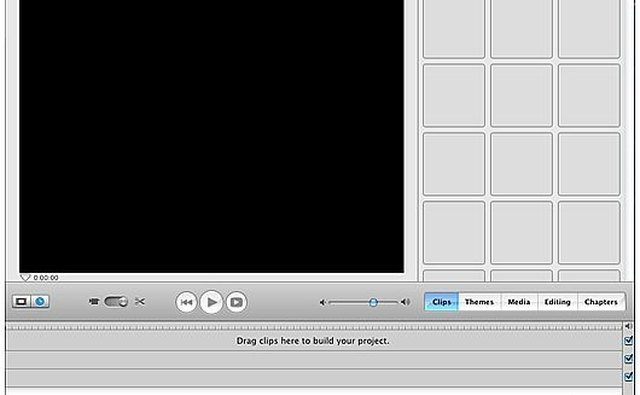 iMovie Main Screen