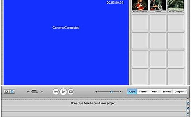 iMovie Blue Interface