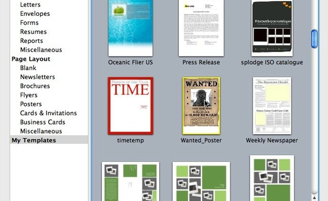 How to Add a New Template to Mac OS X Pages | It Still Works ...