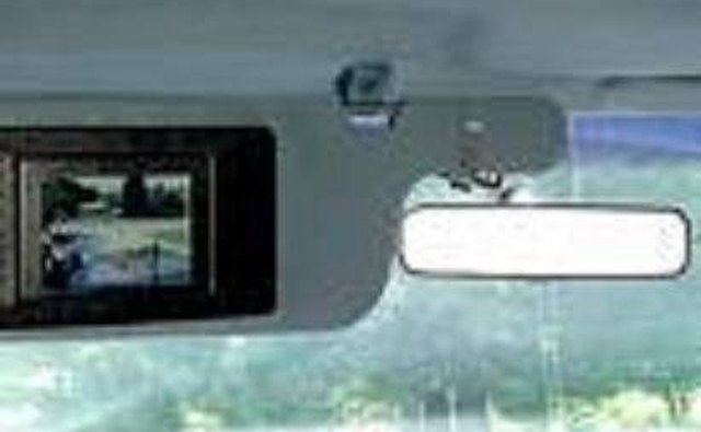Rear-View Camera Display Monitor on sun visor