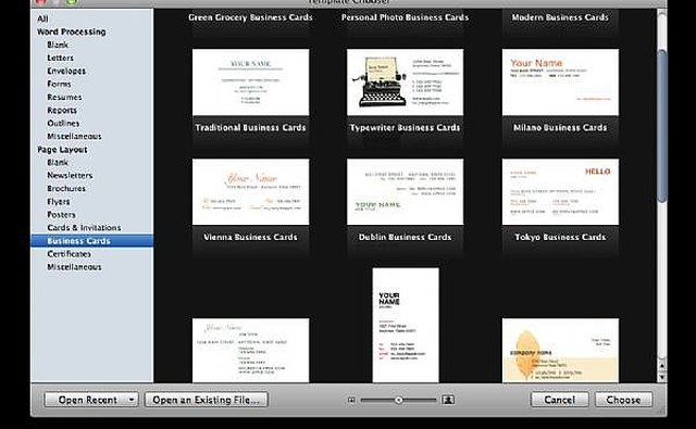 How To Make Business Cards With Apple Pages It Still Works - Business card template pages