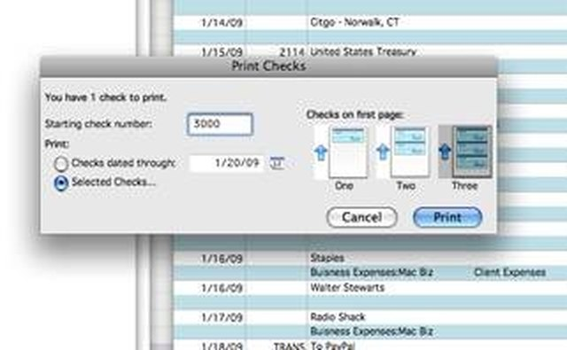 Printing your checks in Quicken