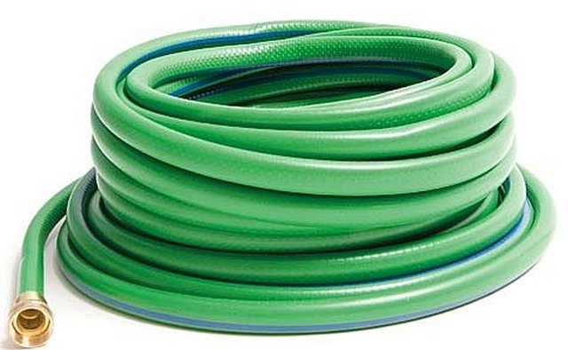 The shorter the garden hose the better as a longer hose reduces suction