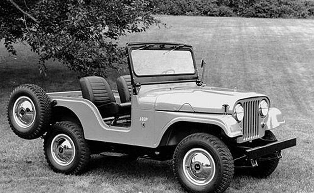 The 1966 Jeep CJ-5 is almost identical to the military version.