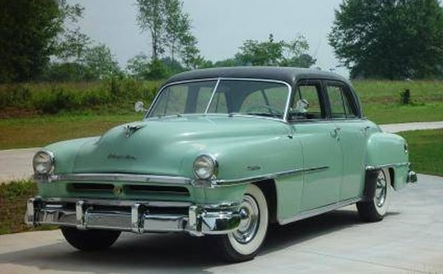The 1951 Chrysler Windsor Deluxe sedan typified styling carried over from prewar designs.