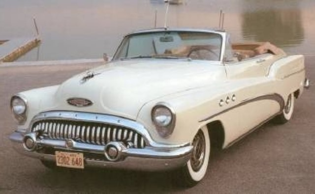 General Motors' 1953 Buick displays a large quantity of chrome.