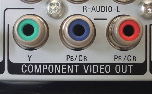 RGB component video output.