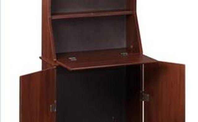 A portable dartboard cabinet