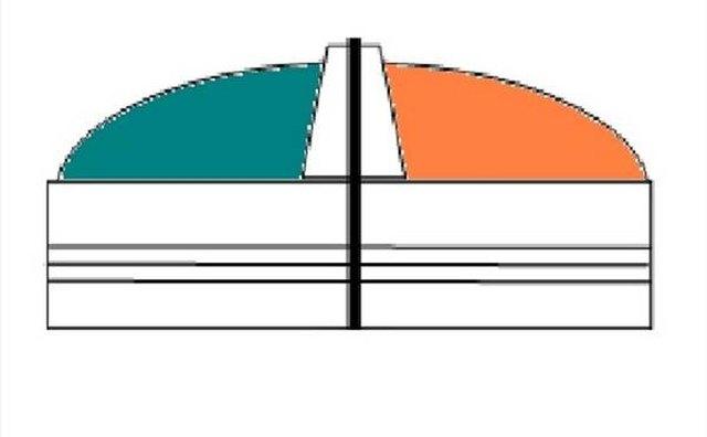 Bicolored combination bow light