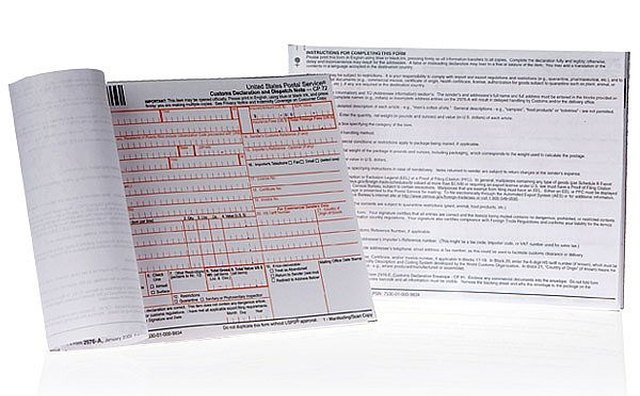 Customs Form PS 2976-A Must Be Filled Out