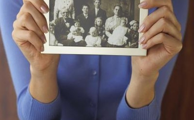 Old pictures of family members are wonderful additions to family reunion newsletters.