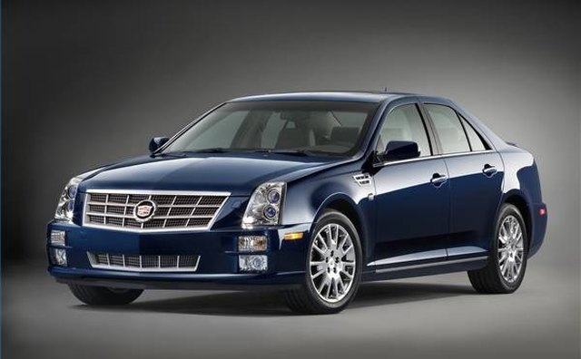 The 2008 Cadillac STS model also as powered by the supercharged version.