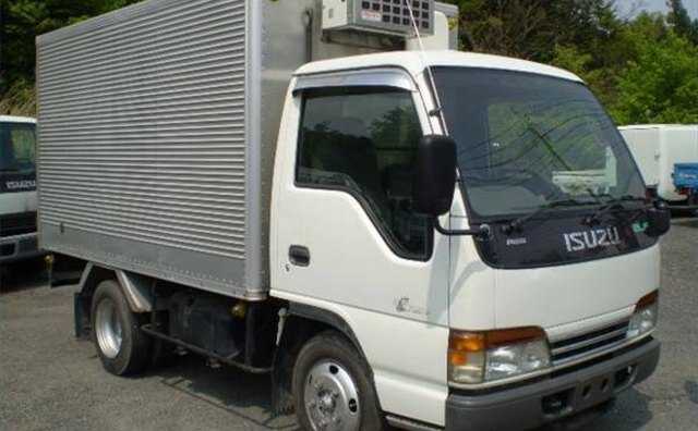 Small vans such as this one in Japan are used for urban deliveries.