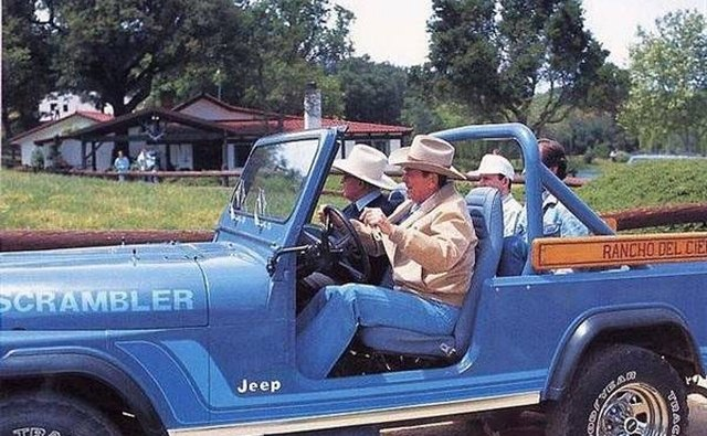 President Ronald Reagan owned a Jeep Scrambler.