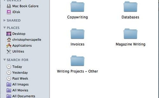 The subfolders within your Work folder.