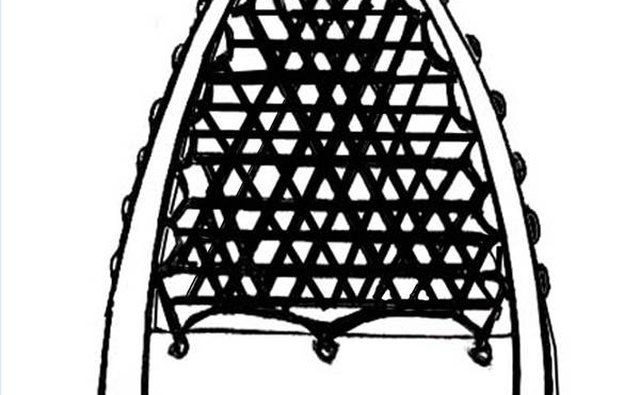 Note the triangular weave pattern