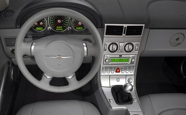 Compact interior of the Crossfire.