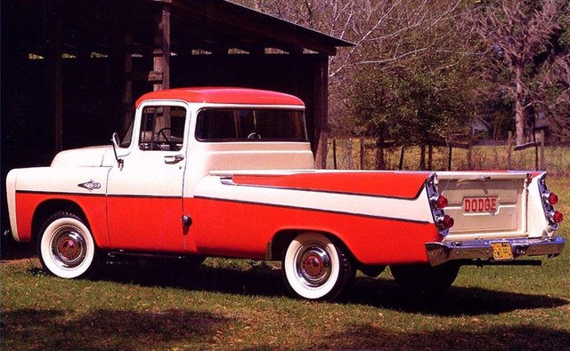 Dodge introduced its Fleetside as the 1957 Dodge