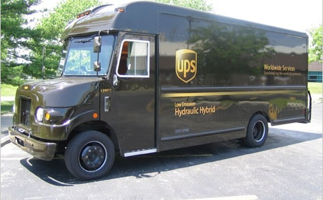 The United Parcel Service is using a hydraulic hybrid step van