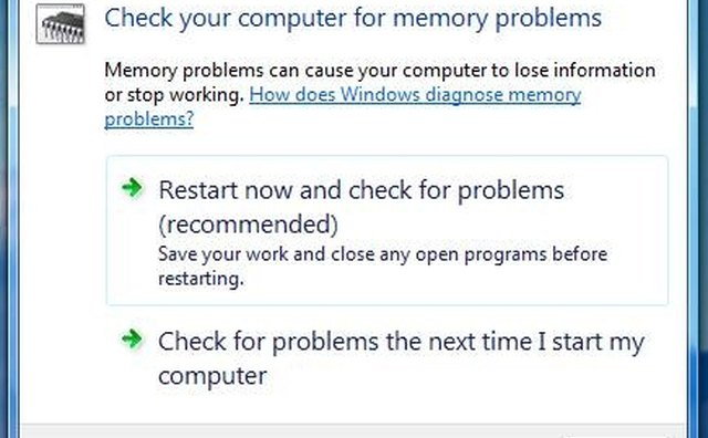 Vista Memory Diagnostic Tool