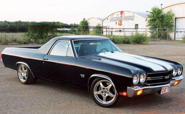This 1968 Chevrolet El Camino Super Sport is a coupe utility.