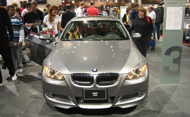 The BMW 335i is powered by a turbocharged 3-liter engine.