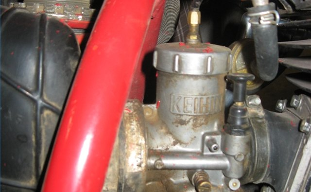 Carburetor on a 1983 Honda CR480
