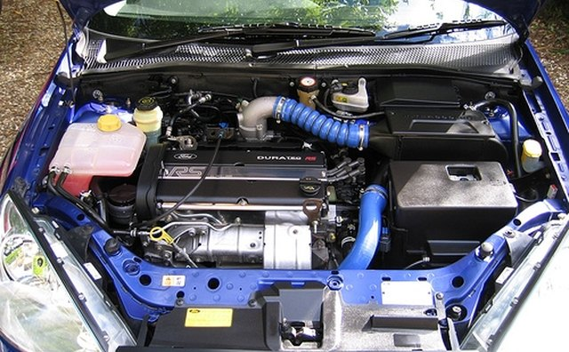 Typical engine bay.