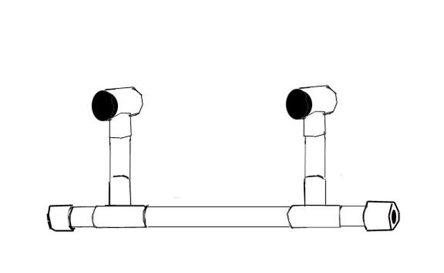 Top uprights are perpendicular to the axle