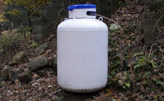Propane or LP gas tank