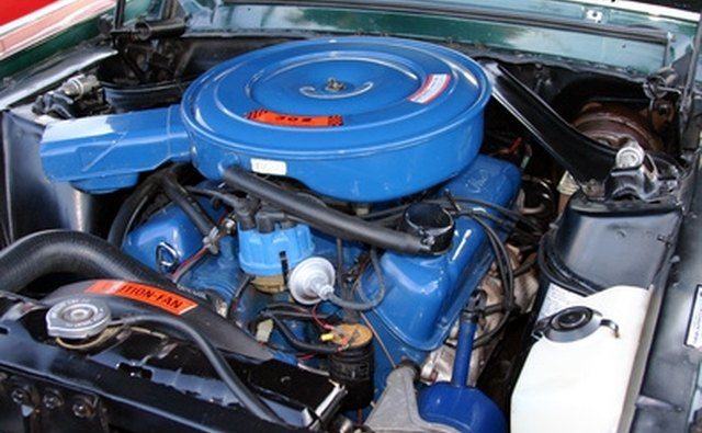 A seventies muscle-car engine with higher compression.