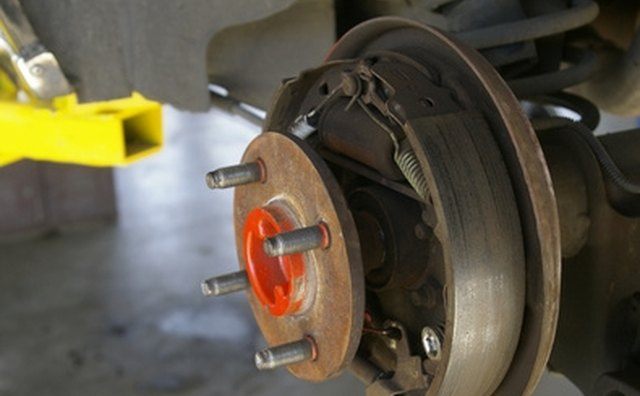 Drum brakes have wheel cylinders that must be bled at the rear of the backing plate.