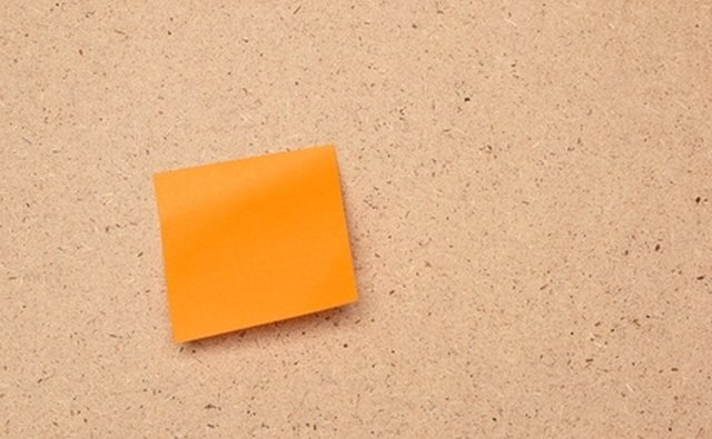 Write each event on a sticky note.