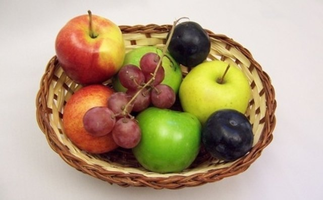 A basket of fresh fruit is a welcome and colorful sight.