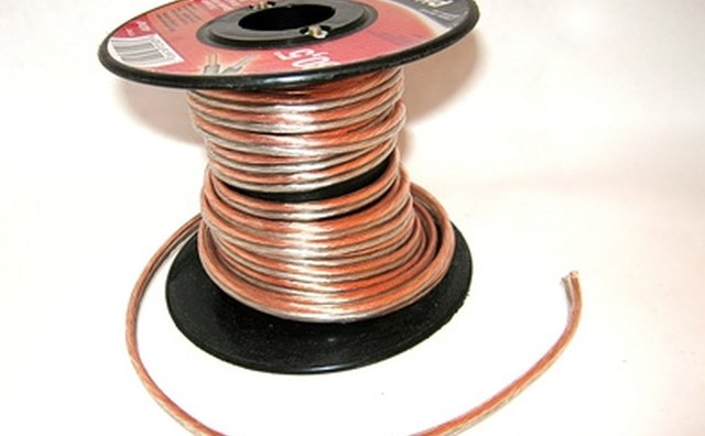 Speaker wire is usually sold in large spindles, allowing for ease of installation