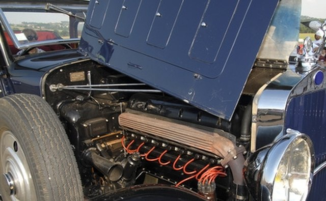 Restoring classic cars involves the installation of the original engine.