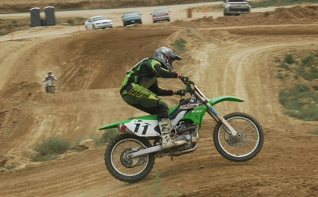 Motocross bikes are built for dirt tracks with jumps and rough terrain.