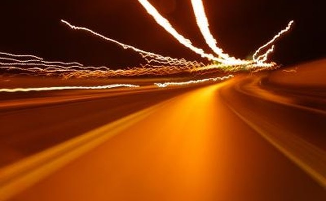 High beams can cause blurred night vision for oncoming traffic.