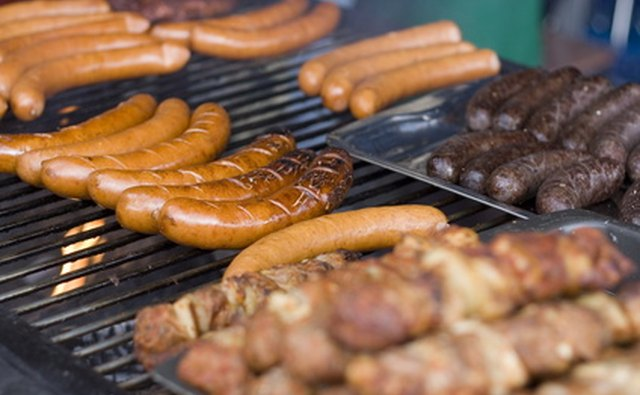 Some Chevrons serve hot sausages and other snacks.