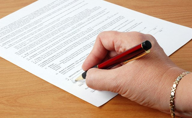 A contract outlines expected services and terms of payment.