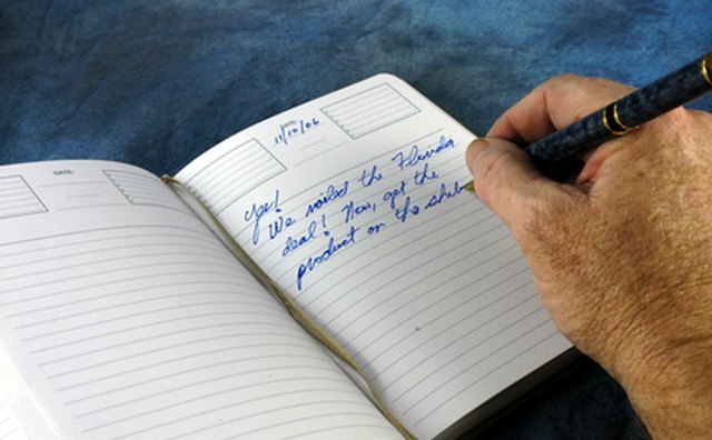 Writing can be therapeutic during the grieving process.