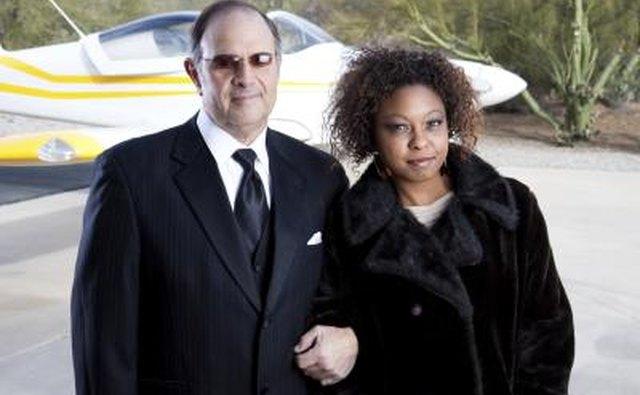 Happy wealthy couple