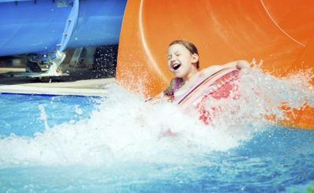 Mountain Park Aquatic Center features two giant water slides.
