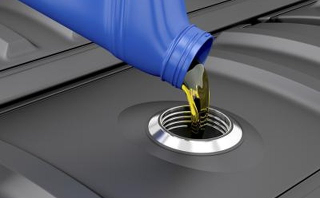 Refilling oil in engine to assure no leaking.