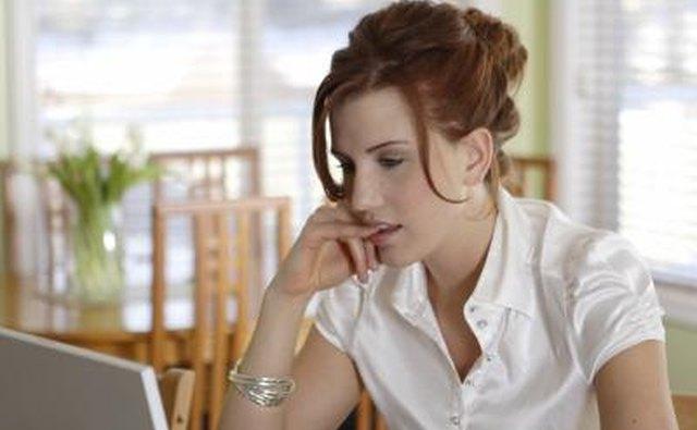 Woman flirting online
