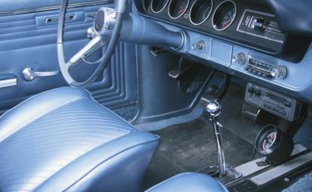 interior of car and brake pedal