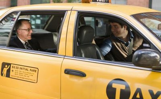 Yellow Taxi cab.